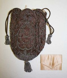 Drawstring bag. ca.1890. Probably French.