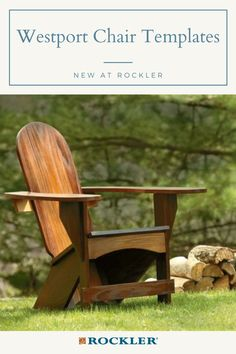 Extra-wide armrests and Adirondack-style geometry provide amazing comfort. Buy the optional stainless hardware for convenience and durability! #CreateWithConfidence #Adirondack #NewAtRockler #Chair #ChairTemplate
