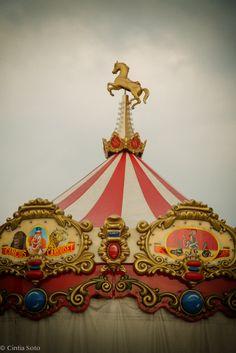 Carrousel italy tuscany  circus art fine art print by #cintiasoto