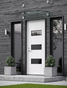Black Exterior, Exterior Colors, Entry Doors, Entrance, Front Door Plants, Malibu Beach House, Home Exterior Makeover, Cute Cottage, Beautiful Interior Design
