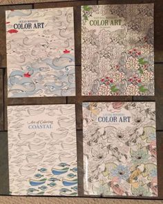 "Lot Of 4 Brand New High Quality Adult Coloring Books; 1 book is  ""Ocean Wonders"" sea life themed (sea horse, whale, etc),  1 book is ""Coastal"" themed (nautical, sea shells, etc.),  1 book is ""Living Wonders"" animal themed (horses, butterfly, etc.), and  1 book is ""Natural Wonders"" themed (flowers, butterflies, etc.).   These books are a bit heavier than the average similar product; paper has a nice weight and tooth.  Books include a coloring guide with tips and techniques."