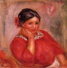 Gabrielle in a Red Blouse - Pierre-Auguste Renoir
