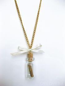 Cafe Craftea: DIY | Message In A Bottle Necklace