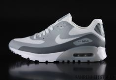 Nike  - Nike Womans Air Max 90 sneaker Ultra Breeze White Cool grey Wolf Grey 725061 - Fahrenheitstore