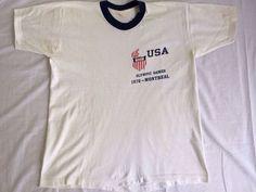 OLYMPICS Shirt 1976 Vintage/ USA Team Summer by sweetVTGtshirt