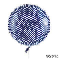 Purple Chevron Mylar Balloon