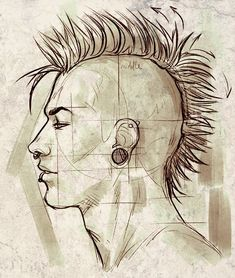 side profile drawing men - Google zoeken