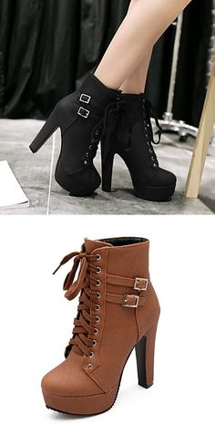 Receive autumn with these booties! What color would you wear: black or brown? Click for extra details.