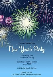 new years party fireworks free new year invitation template invitation announcement greeting cards