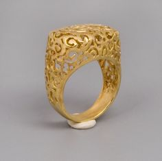 Thin Golden Lace Ring by toolisjewelry