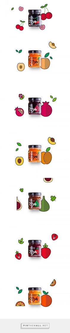 Jam and Jelly — The Dieline - Branding & Packaging. - a grouped images picture - Pin Them All Food Packaging Design, Packaging Design Inspiration, Brand Packaging, Branding Design, Honey Packaging, Bottle Packaging, Label Design, Package Design, Displays