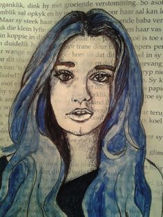 Done in White water and blue colour paint, pen and tipex. I feel it in the air Follow Me On Instagram, Annie, Vanilla, My Arts, Deviantart, Feelings