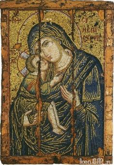 Mosaic icon of the Virgin Glykophilousa
