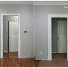 layer molding to create impact, wall decor, woodworking projects, Before After What a difference