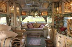 Gypsy+Wagon+Interiors | ... interior lights reflecting on glass and mirrors create a magical