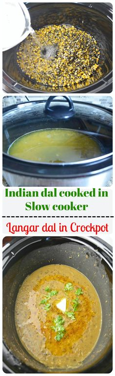 Langarwali dal in slow cooker -  A hearty, comforting slow cooked dal which is very easy to cook and uses no fancy ingredients - yet so delicious and flavorful.