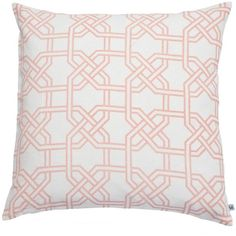 Nina Kullberg - Paris Coral Pink Cushion ($105) ❤ liked on Polyvore featuring home, home decor, throw pillows, patterned throw pillows, paris home decor, parisian home decor, coral color home decor and feather pillow inserts