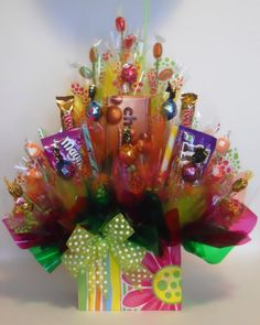 springtime candy bouquet....perfect for Mother's Day!