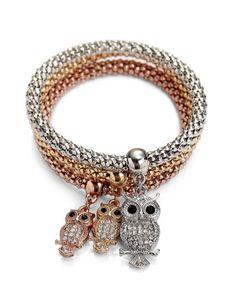 owl bracelet, fashion bracelets, stackable owl bracelet
