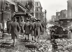 Snow in the street, Washington D.C, c. 1918