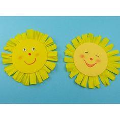 Sonne basteln – einfache Anleitung für die Kinder – Rebel Without Applause Summer Crafts For Toddlers, Crafts For Seniors, Diy For Kids, Diy Crafts To Do, Arts And Crafts, Paper Crafts, Sunflower Crafts, Senior Gifts, Handicraft