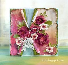 From Klaudia Szpunar (Kszp), who lives in Neuhausen am Rheinfall, Switzerland. Paper Cards, Diy Cards, Mixed Media Cards, Shabby Chic Cards, Beautiful Handmade Cards, Card Making Inspiration, Pretty Cards, Copics, Card Tags