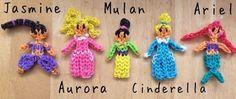 Rainbow Loom Disney Princesses designed by Tutorialsbya