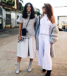 culottes with a loose knit