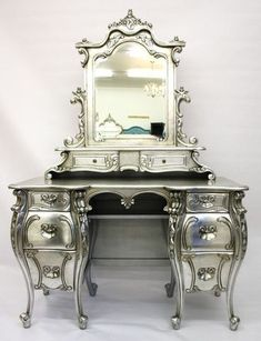 krylon silver shimmer paint on nightstands - Google Search
