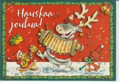 """Merry Christmas"" in finnish Mauri Kunnas, Finland: Christmas Cards, Christmas Books, Christmas Cards, Merry Christmas, Christmas Ornaments, Postage Stamps, Old And New, Finland, My Books, Holiday Decor"