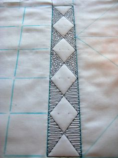 Amy's Free Motion Quilting Adventures: Free Motion Monday Quilting Adventure: Ruler Work, Week 3