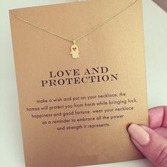 Hamsa Hand Love & Protection Necklace - Gold or Silver