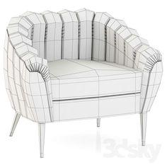 3d models: Arm chair - Brabbu Oreas Armchair