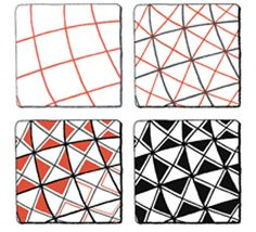 driehoeken zwart wit