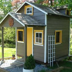 From 1930s Playhouse to Garden House: After  in this old house reader remodel Best Sheds and Outbuilding Before and Afters 2012