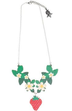 STRAWBERRY PLANT COLLAR NECKLACE
