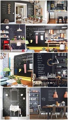 decoração decor parede de lousa tinta preta fosca borboletas na carteira-2