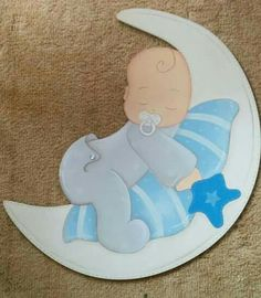 Beautiful pictures for good night eikones top Baby Boy Shower, Baby Shower Gifts, Dibujos Baby Shower, Moldes Para Baby Shower, 3d Cuts, Baby Door, Baby Boy Scrapbook, Baby Clip Art, Baby Shawer