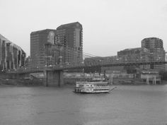 Along the Ohio by Nicole Jauch on Capture Cincinnati // a black and white of the river