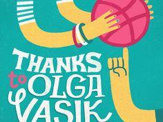 Dribbble - Thanks to Olga Vasik by Zhenya Artemjev