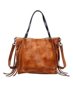 OLD TREND Chestnut Daisy Leather Tote | zulily