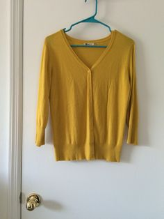 Own - mustard cardigan