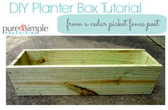 DIY Planter Box Tutorial | Pure & Simple Organizing