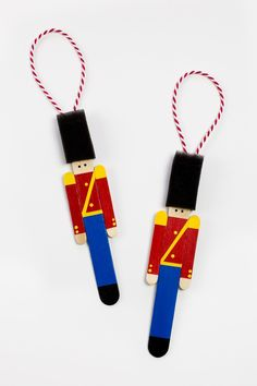 Crafters big and small will delight in making a Wooden Toy Soldier Ornament with craft sticks paint and one extra unique craft material. Nutcracker Crafts, Nutcracker Ornaments, Christmas Ornament Crafts, Christmas Crafts For Kids, Xmas Crafts, Spring Crafts, Nutcracker Christmas Decorations, Popsicle Stick Crafts, Popsicle Sticks