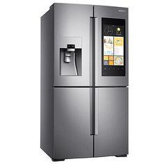Buy Samsung RF56K9540SR/EU Family Hub Smart Fridge Freezer, A+ Energy Rating, 90cm Wide, Stainless Steel Online at johnlewis.com