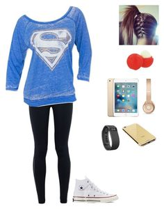 """""""Being lazy"""" by gymnastics7 ❤ liked on Polyvore featuring NIKE, Converse, Eos, Beats by Dr. Dre, Goldgenie, Fitbit, women's clothing, women, female and woman"""