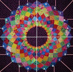 Free giant dahlia quilt pattern and tutorial Quilting Tutorials, Quilting Projects, Quilting Designs, Sewing Projects, Quilting Ideas, Quilting 101, Quilt Design, Sewing Crafts, Quilt Block Patterns