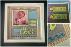 Marco scrapbooking bebe - Baby scrapbooking frame