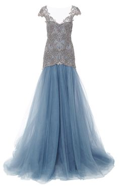 Embroidered Drop Waist Ball Gown by Marchesa - Moda Operandi jaglady Evening Dresses For Weddings, Fall Wedding Dresses, Ball Dresses, Ball Gowns, Prom Dresses, Drop Waist Wedding Dress, Marchesa Fashion, Special Dresses, Formal Gowns