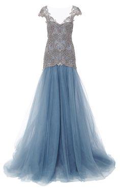 Embroidered Drop Waist Ball Gown by Marchesa - Moda Operandi    jaglady